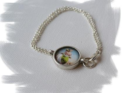 crazy vespa riding chick bracelet