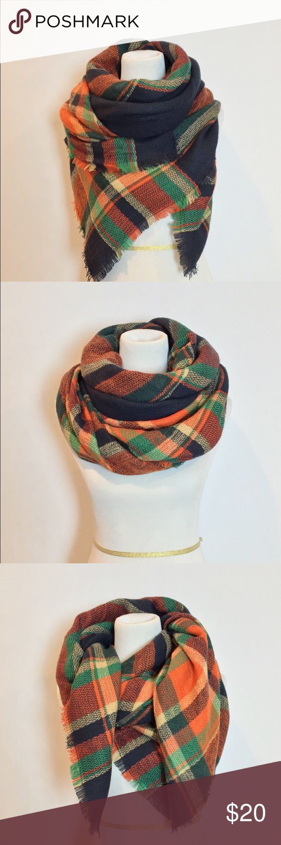 """Zara Oversized Plaid Tartan Blanket Scarf Stay cozy and comfortable this season with this beautiful oversized blanket scarf. Made from high quality, medium weight, soft fabric, this scarf will keep you warm all season long.  Cut wide & extra long to allow for even more layering & styling opportunities. This piece is finished with fringed edges for an added bohemian & vintage touch. Approximately 52""""x 52"""". Made out of a Acrylic cotton blend. NWOT! Zara Accessories Scarves & Wraps"""