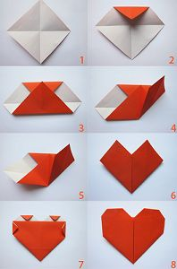 cr er un coeur en origami simple coeurs origami pinterest c ur origami et comment. Black Bedroom Furniture Sets. Home Design Ideas