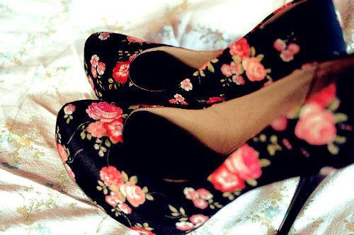 Vintage Floral Shoes