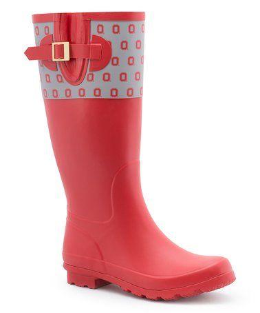 Look what I found on #zulily! Ohio State Buckeyes Rain Boot #zulilyfinds