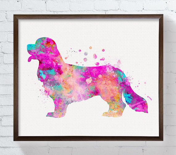 Cavalier King Charles Spaniel Art Print by MiaoMiaoDesign on Etsy