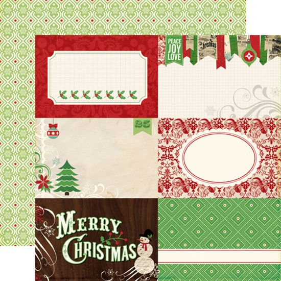 Echo Park - Reflections Collection - Christmas - 12 x 12 Double Sided Paper - Peace Joy Love at Scrapbook.com