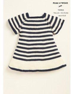 Modèle layette W043 - Patron tricot gratuit