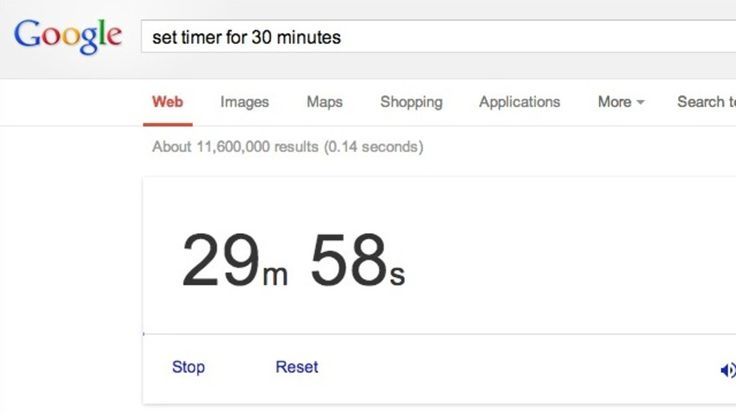 "Use Google as a Timer with a Simple Search Command "" set tmer to x"""