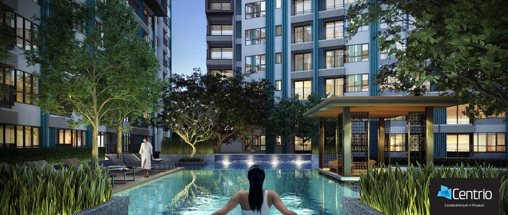 Centrio Condominium Phuket - Luxury Swimming Pool Perspective  ภาพจากมุมสระว่ายน้ำ