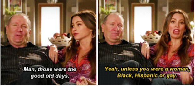 "On the past: | 21 Times Gloria From ""Modern Family"" Spoke The Goddamn Truth"