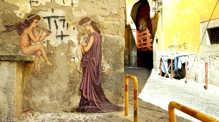 Lo street artist Francese Zilda ha lasciato il segno anche a Napoli