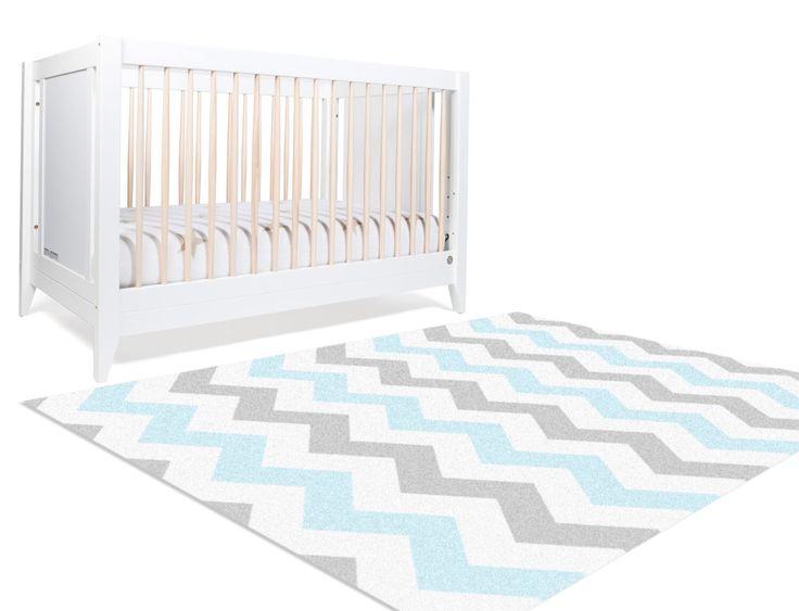 Gray Blue Nursery - Blue Chevron Rug - Grey Chevron Nursery - Kids Floor Rugs- Nursery Floor Rug- Rugs For Nursery- Bedroom Rug -Bedside Rug by NotARug on Etsy https://www.etsy.com/listing/214197968/gray-blue-nursery-blue-chevron-rug-grey