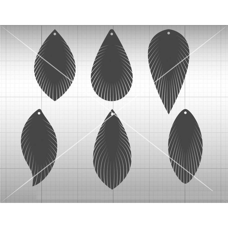 Feather Fringe Earring SVG, DXF File