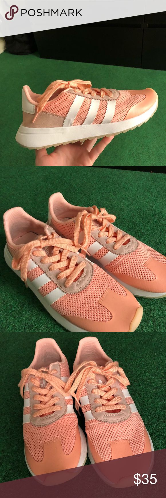Adidas Originals Coral Adidas Originals color Coral (pink)  Size 8.5 Very good condition I have to say that in reality they are darker than the online order picture (last picture)  Just washed them, no stains, very comfortable adidas Shoes Sneakers