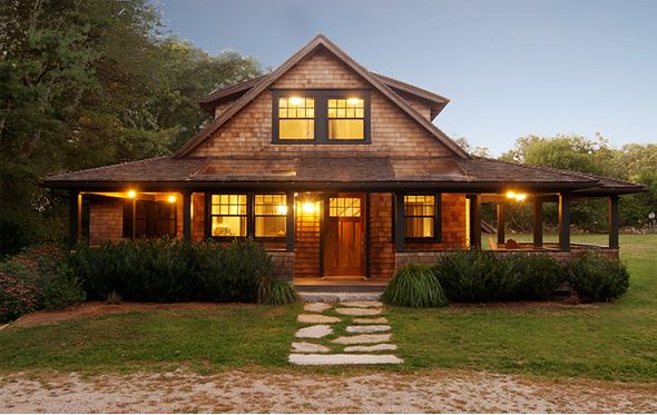 Shingle Siding Wrap Around Porch In The Country Yes