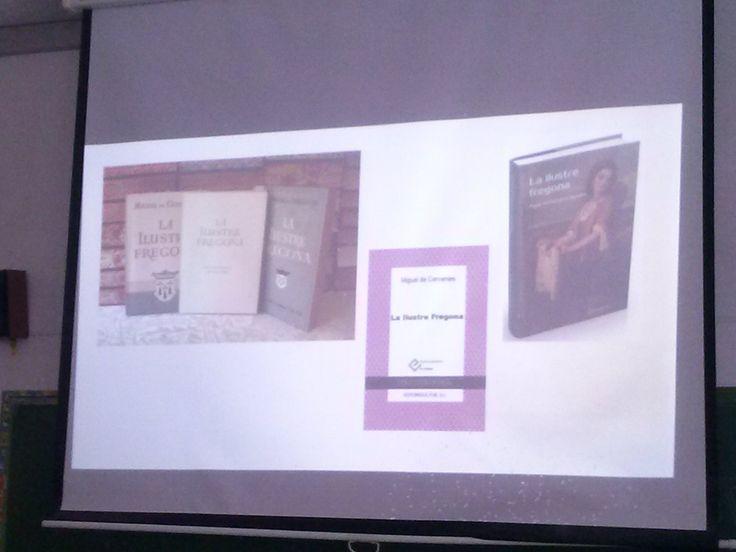 Exposiciones sobre la obra de Miguel de Cervantes en el aula. Alumnos de 1º Bchto. A. Propuesta de la profesora Yolanda Jiménez