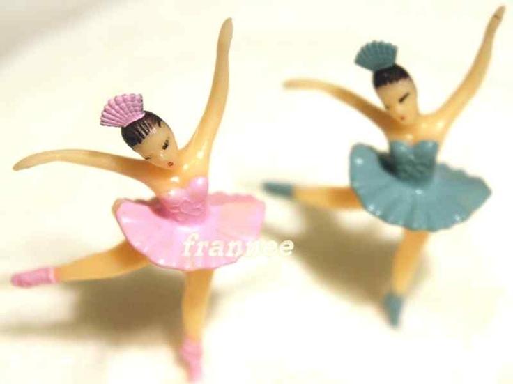 12 BALLET BALLERINA DANCE CUPCAKE PICKS DECORATION PINK ONLY AA | eBay