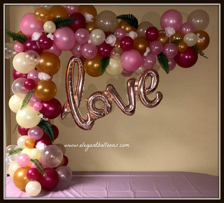 Cake table love arch organic style elegantballoons