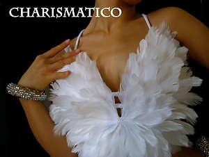 Robe En Plumes Blanches Dame Samba Salsa DANSE Latine | eBay