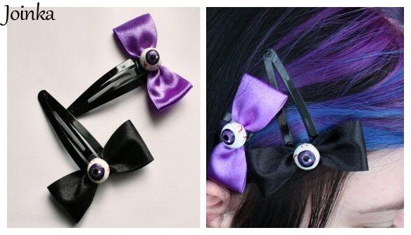 """Eyes"" hair-pins."