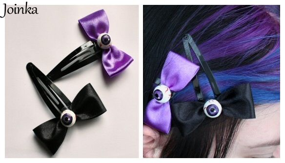 """Eyes"" hair-pins."