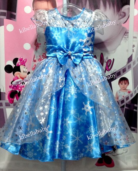Vestido Infantil de Festa Frozen