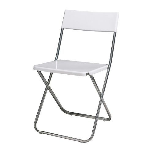 jeff folding chair white ikea for the home pinterest. Black Bedroom Furniture Sets. Home Design Ideas
