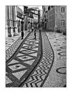 Cobblestone sidewalks, Portugal. calcadas portuguesas