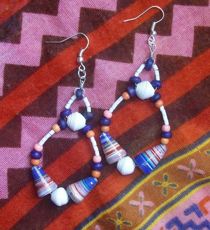Ne Na handmade paper beads earrings/ bohemian/ fashion/ jewelry