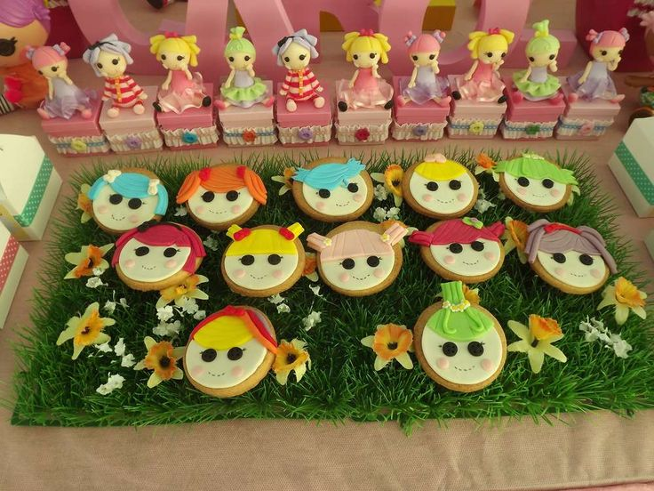 Cookies at a Lalaloopsy birthday party! See more party planning ideas at CatchMyParty.com!