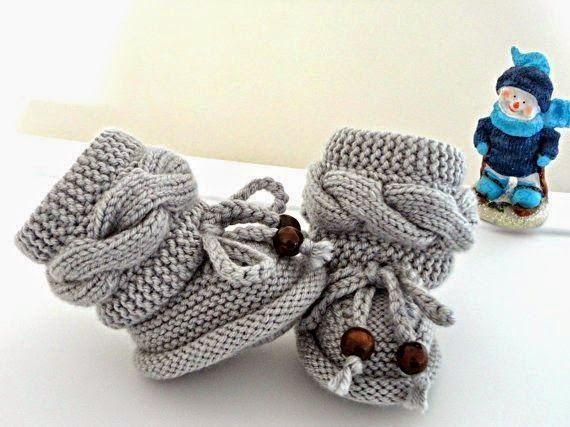 Модели вязания: Пинетки-ботиночки