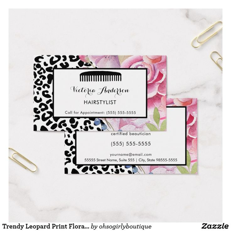 591 best Girly Business Cards images on Pinterest   Business cards ...