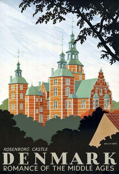 Illustration of Rosenborg Castle in Denmark.