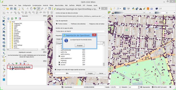 Descargar datos vectoriales de Open Street Map con QGIS