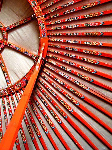 structure de la yourte mongole