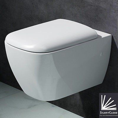 Aachen 375 Wall Hung Toilet With Soft Close Seat (C63)