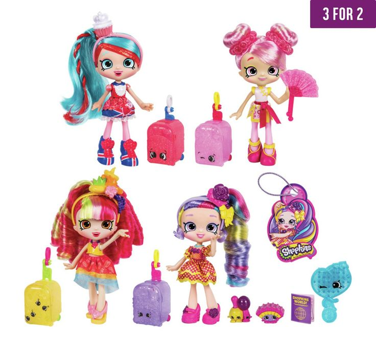 Buy Shopkins Shoppies 4 Doll Pack at Argos.co.uk - Your Online Shop for Dolls, Dolls and playsets, Toys.