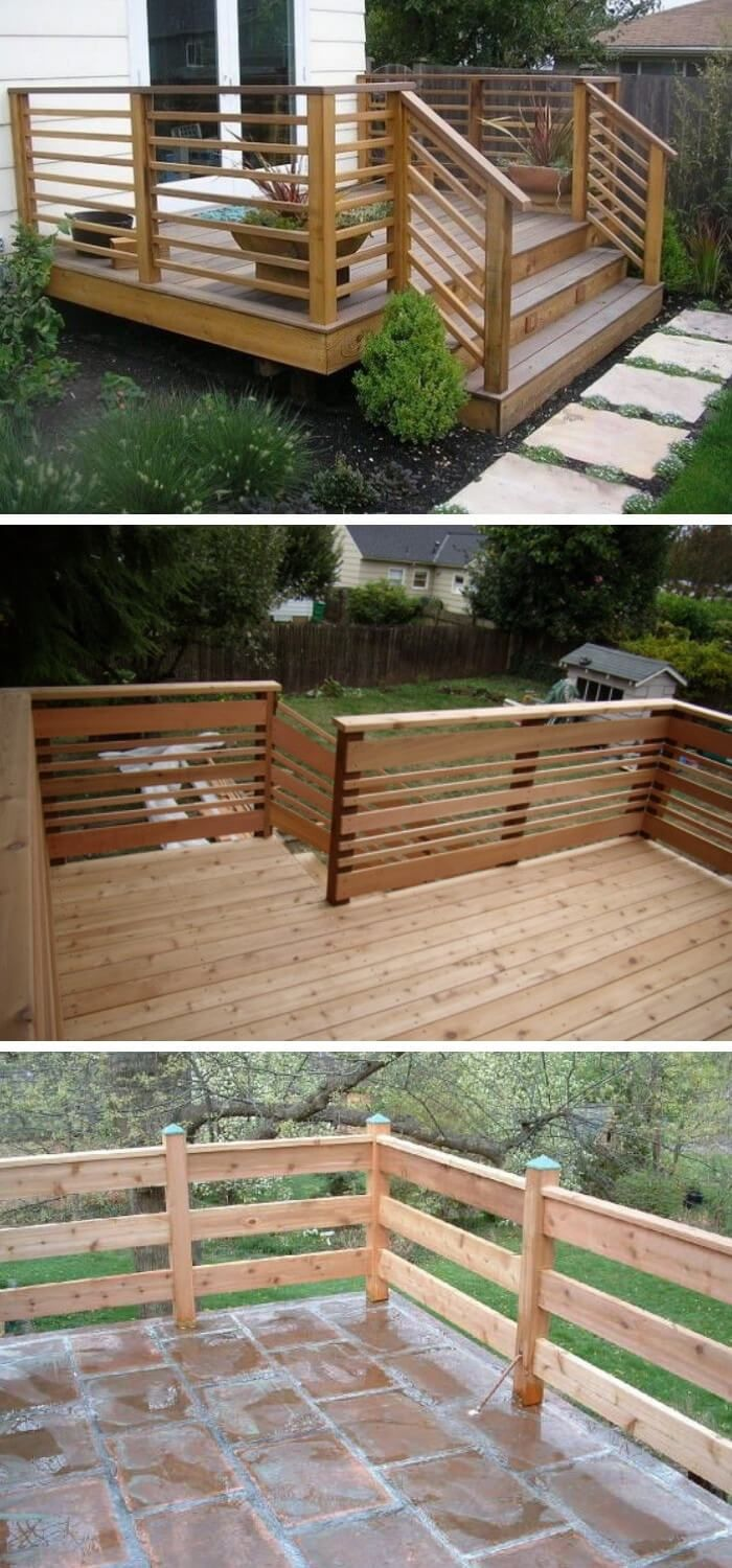 30 Awesome Diy Deck Railing Designs Ideas For 2020 In 2020 Diy Deck Deck Railing Design Deck Remodel