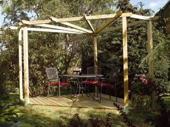 timber garden decking u0026 pergola kit - Pergola Kit