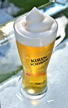 Japanese beer brand Kirin is the beer in the UK's first frozen beerr (© Yo! Sushi)