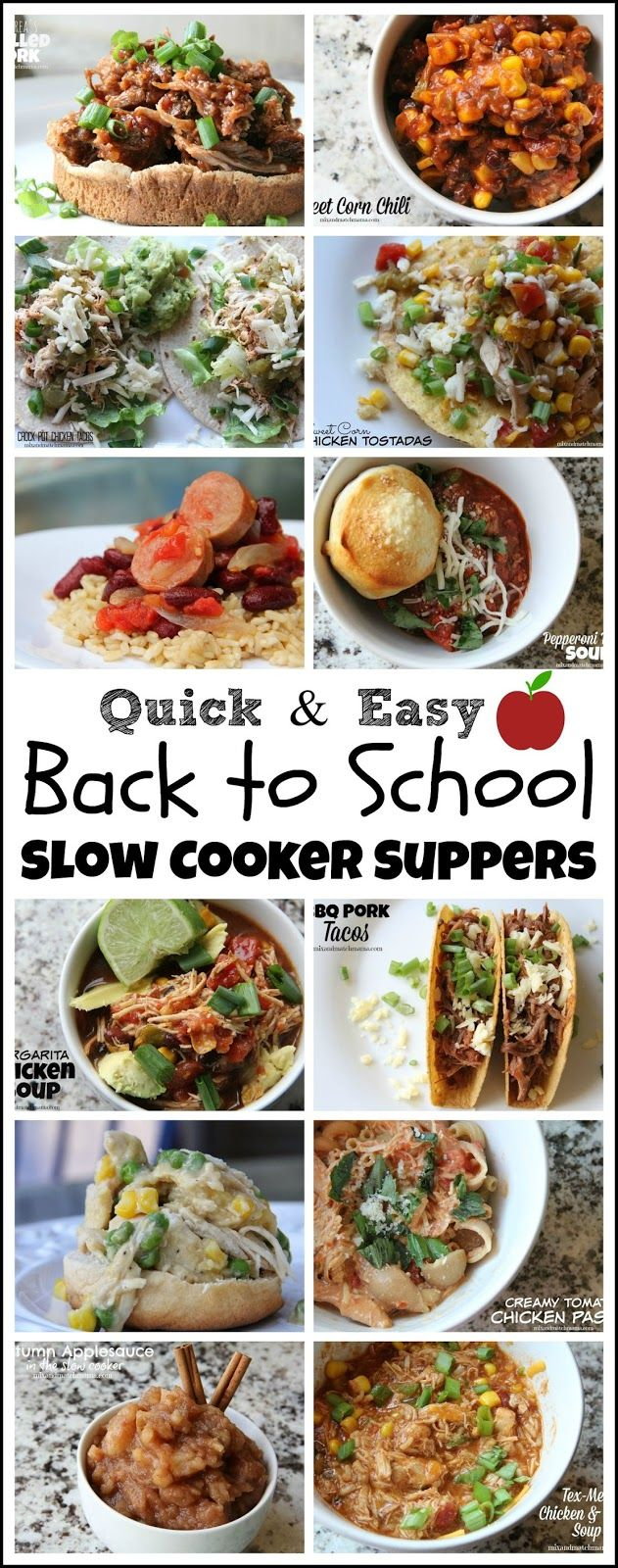 Quick and Easy Back to School Slow Cooker Recipes!
