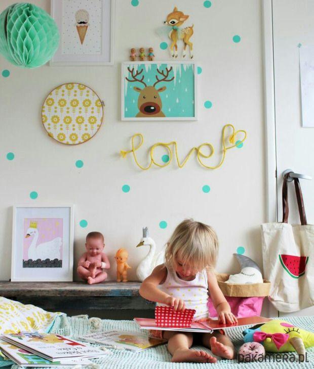 pokój dziecka - naklejki ścienne-MIĘTOWE GROSZKI NAKLEJKI NA ŚCIANĘ 72SZT 5CM