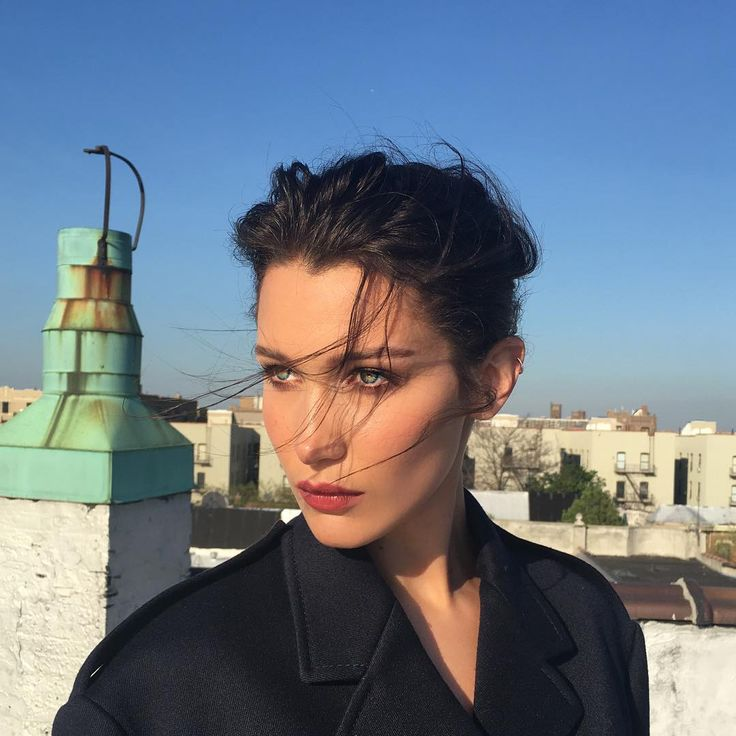 Bella Hadid: Bella's gorgeous, high fashion updo proves that messy and poised can be one in the same.