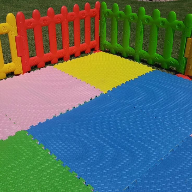 Mats and fencing  soft play party rental
