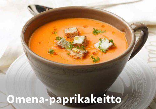 Omena-paprikakeitto Resepti: Valio #kauppahalli24 #ruoka #resepti #omena #paprikakeitto