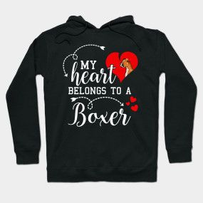 My Heart Belongs to A Boxer Dog Colored – Boxer Do…