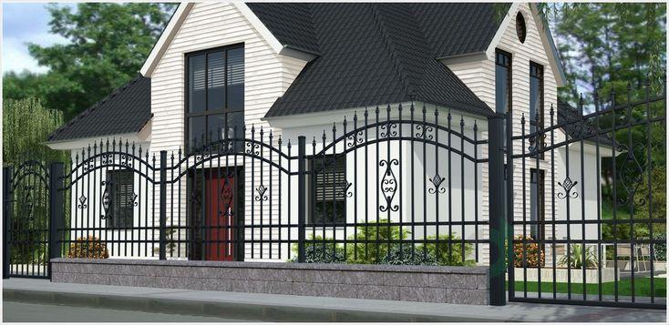 Elegancki system ogrodzeniowy Alicja 2 charakteryzujący się bogatą ornamentyką i klasycznym stylem.