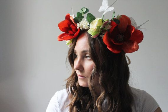Boho Flower Crown by FoxLoveCo on Etsy
