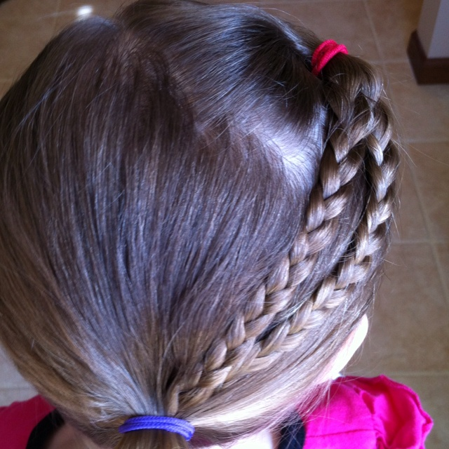Cute little girl hairstyle.