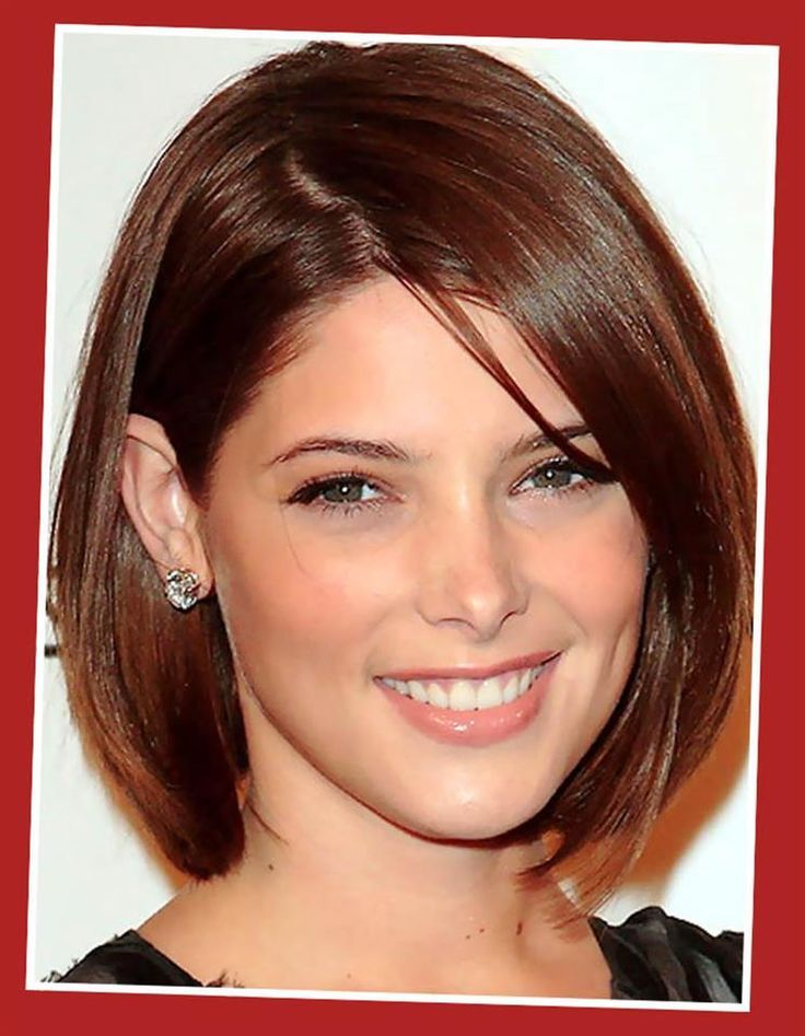 like this hair style. longer bob with a swoop bang