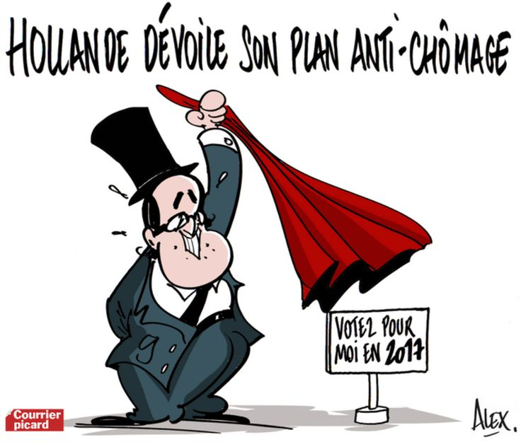 Hollande dévoile son plan anti-chômage #chomage #humour #satire #politique