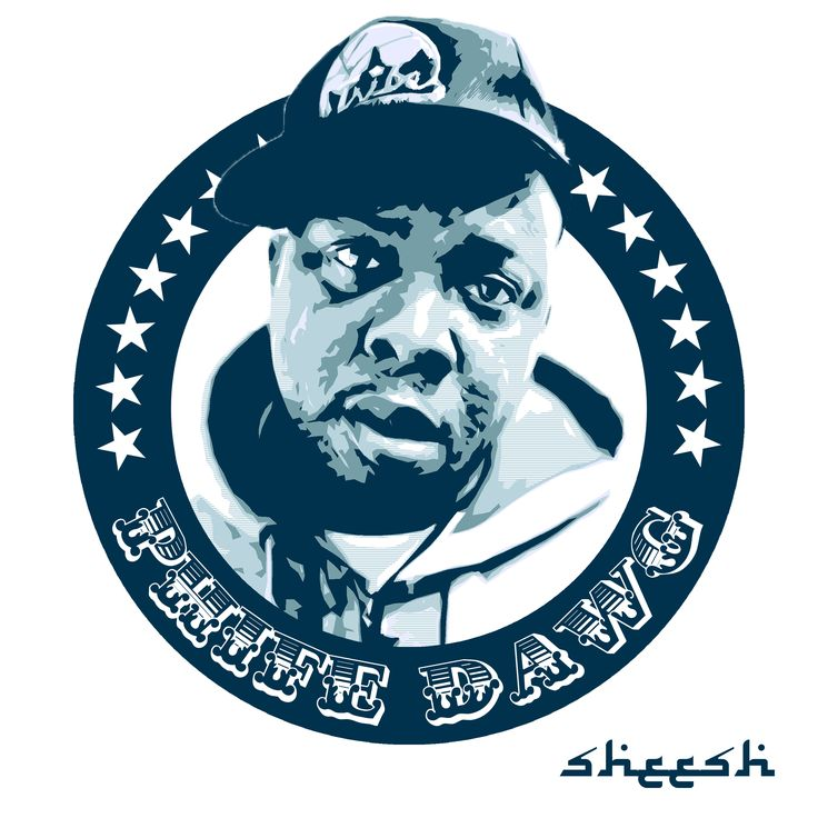 A graphics piece and possible t-shirt design featuring Phife Dawg from A Tribe Called Quest http://yashamuraben.tumblr.com