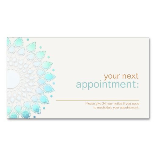 231 best SPA Business Cards images on Pinterest Aromatherapy - sample appointment card template